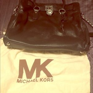 Barely used BIG black Michael Kors purse